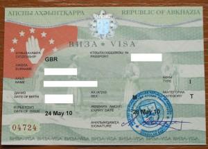 Abkhazia Visa (redacted)