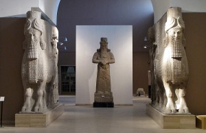 Lamassu and Nabu, God of Wisdom and Writing