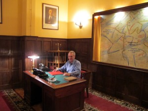 Stalin's Office.   Chair is original, Scotsman is not.