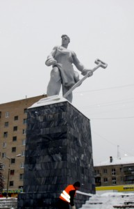 Magnitogorsk Steelworker Statue