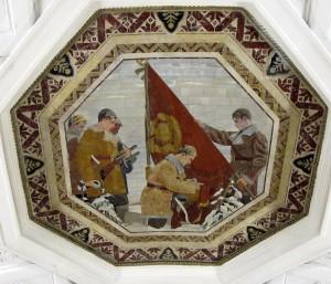 Belorusskaya Ceiling Mosaic