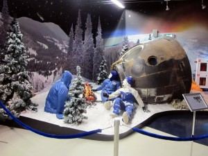 Cosmonauts in the snow
