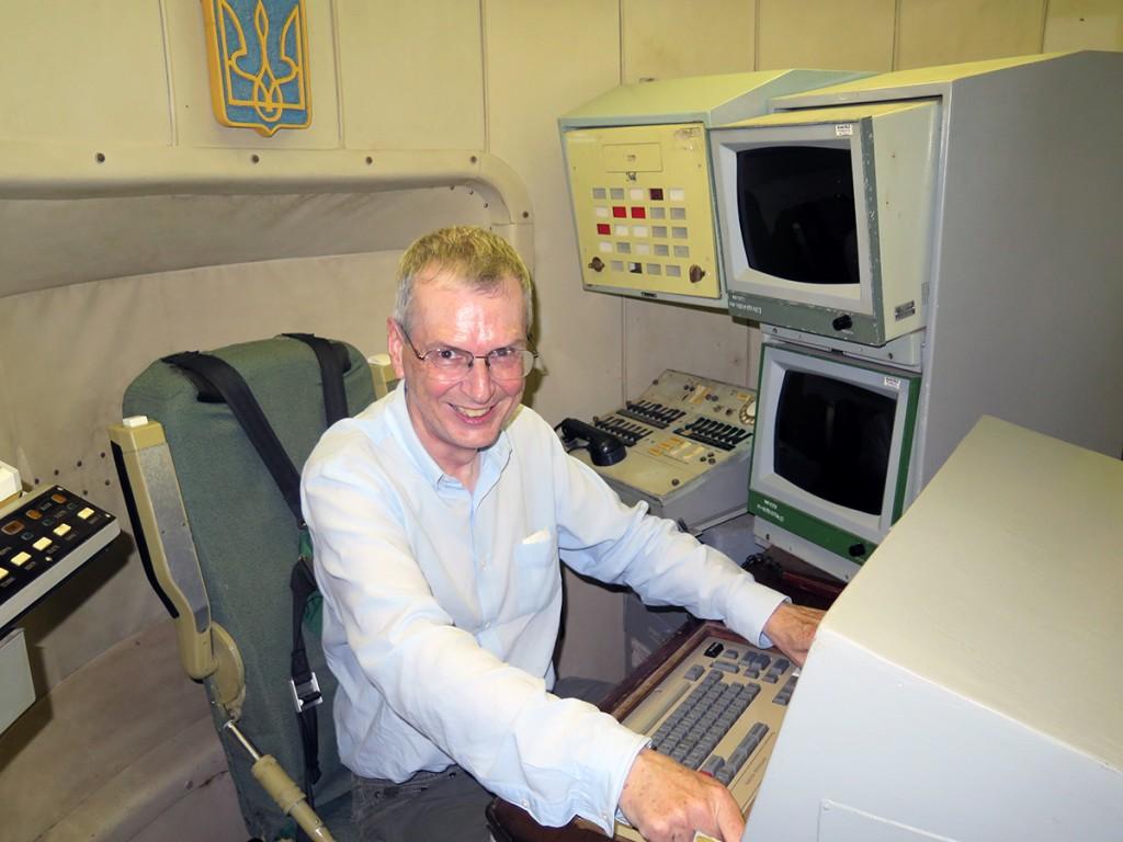 Scotsman at launch controls